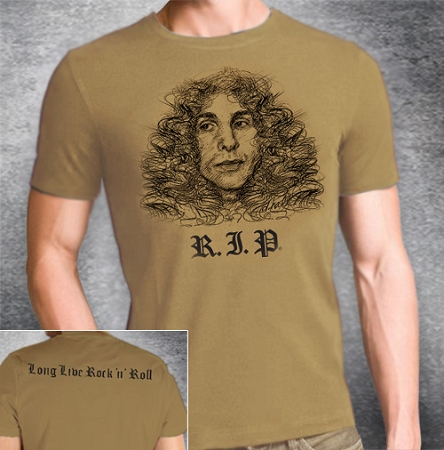 ca853c81a Honor the memory of Ronnie James Dio by wearing this BRAND NEW Memorial T- Shirt!