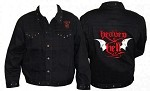 Heaven & Hell Embroidered Denim Jacket / Wings Back
