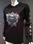 Heaven & Hell Silver Skull 2007 Tour Date Back L/S