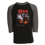 Dio Holy Diver - 3/4 Sleeve Shirt, Black & Gray